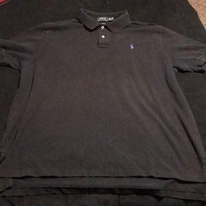 Black Ralph Lauren polo collared shirt